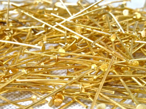HEADPINS Gold Plated 32 mm to 50 mm 500 PIECES