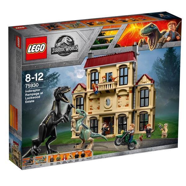 LEGO 75930 Jurassic World Indoraptor Rampage Dinosaur Fun Toy Set Kids Toys New