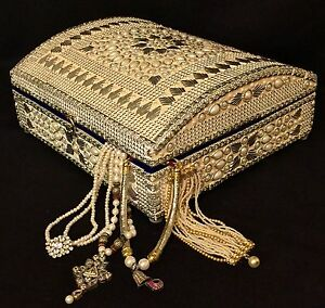 Pearl-Wedding-Gift-Ivory-Jewellery-Box-Treasure-Chest-Indian-Wedding ...