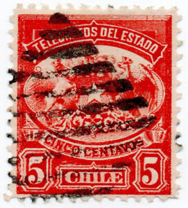 I-B-Chile-Telegraphs-Arms-5c-small-format