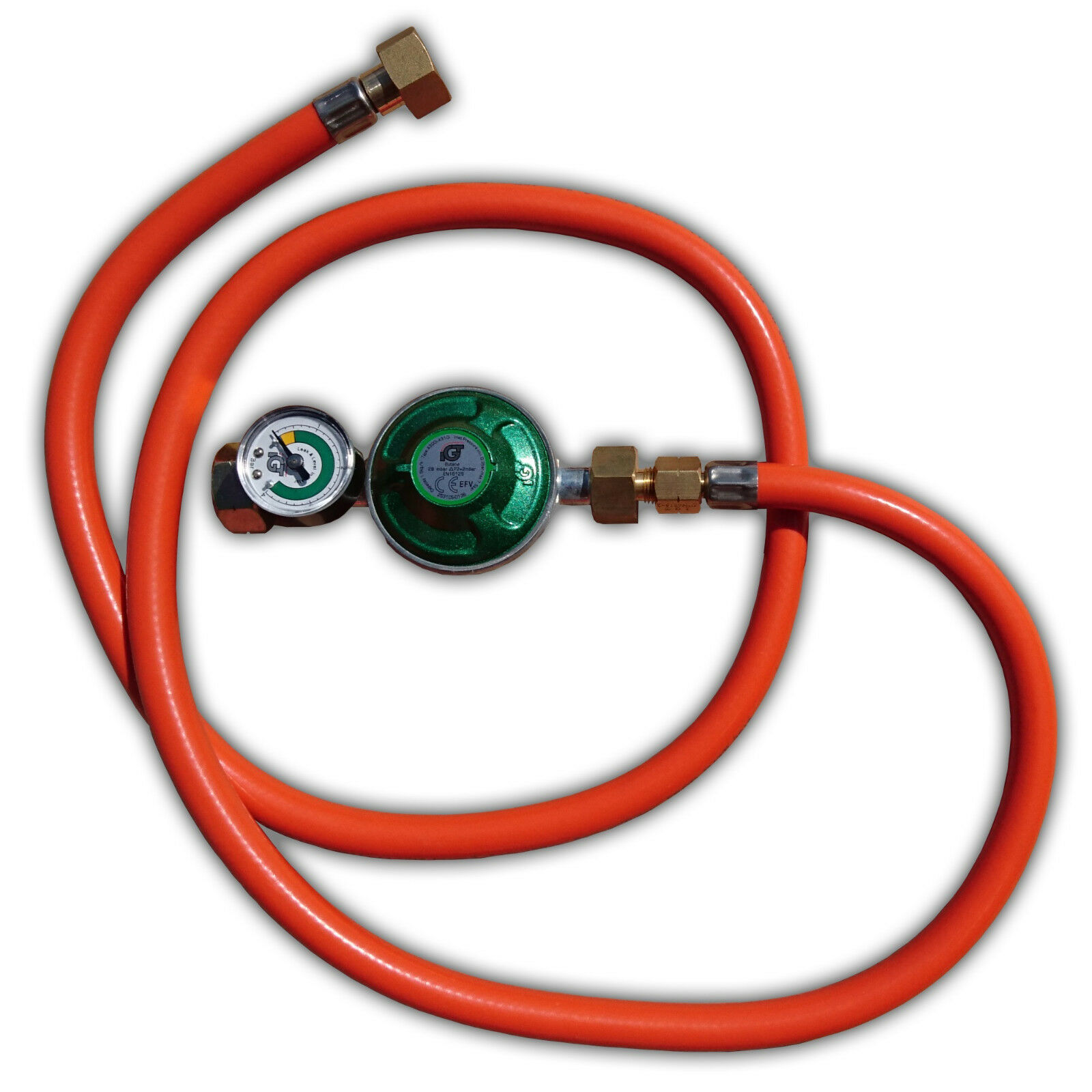 Gas Regulator   Hose Set 30 Millibar with 1 2 Inch Connection and Manometer