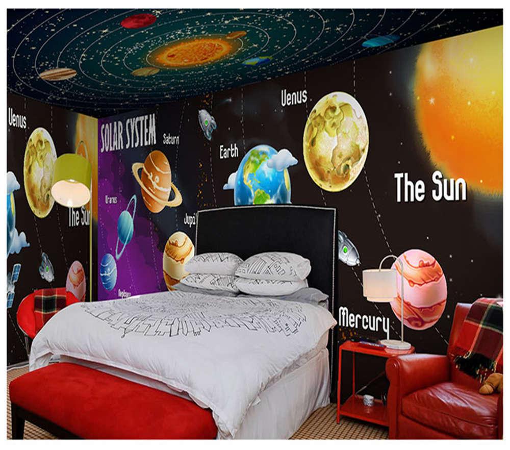 Planetary Circle 3D Full Wall Mural Photo Wallpaper Printing Home Kids Decor