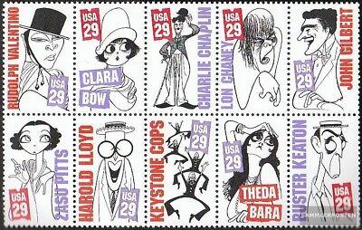Punctual U.s United States 2440-2449 Zehnerblock Mint Never Hinged Mnh 1994 Stummfilmstars Stamps