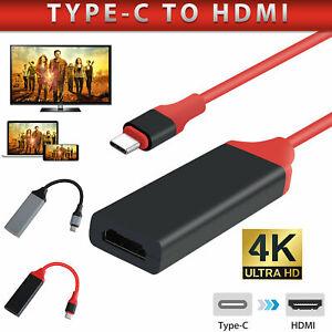 USB-C-Typ-C-zu-HDMI-HDTV-4K-Kabel-Adapter-fuer-Samsung-S10-S9-S8-Note-9-MacBook