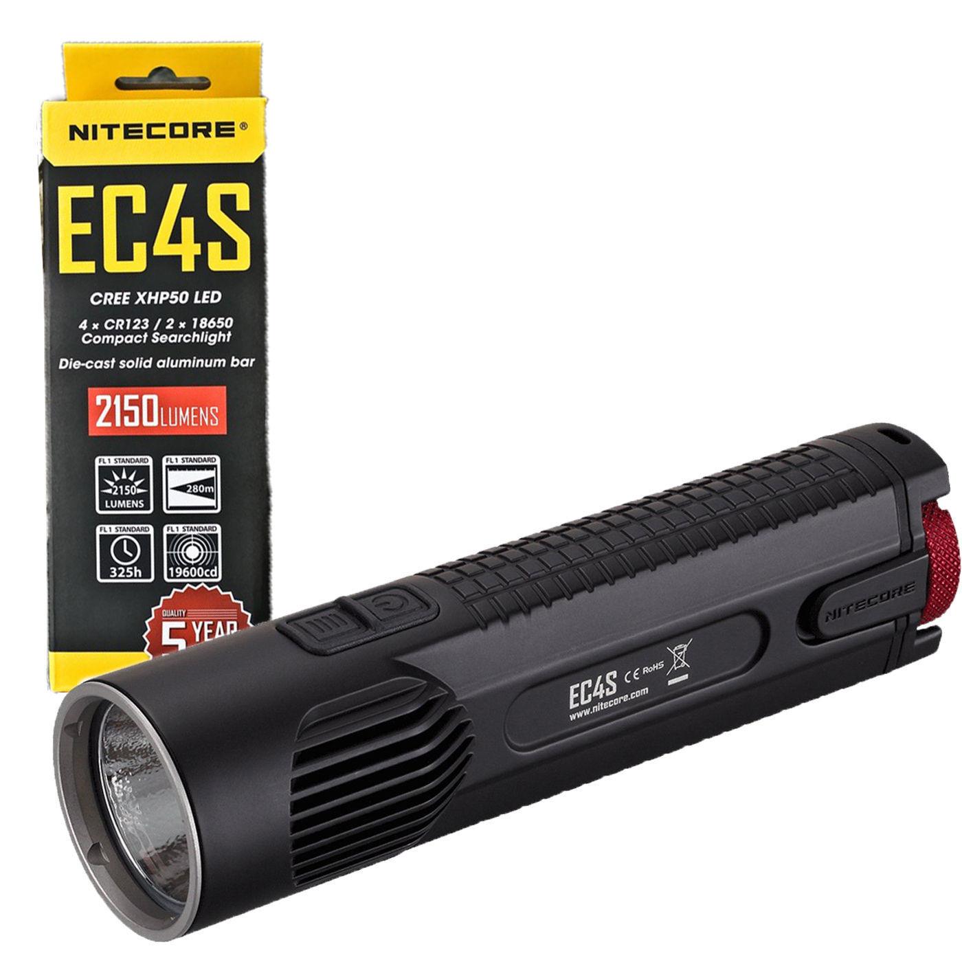 NITECORE EC4S CREE XHP50 LED DieCast Flashlight 2150 Lumens EXPLORER SERIES EC4S