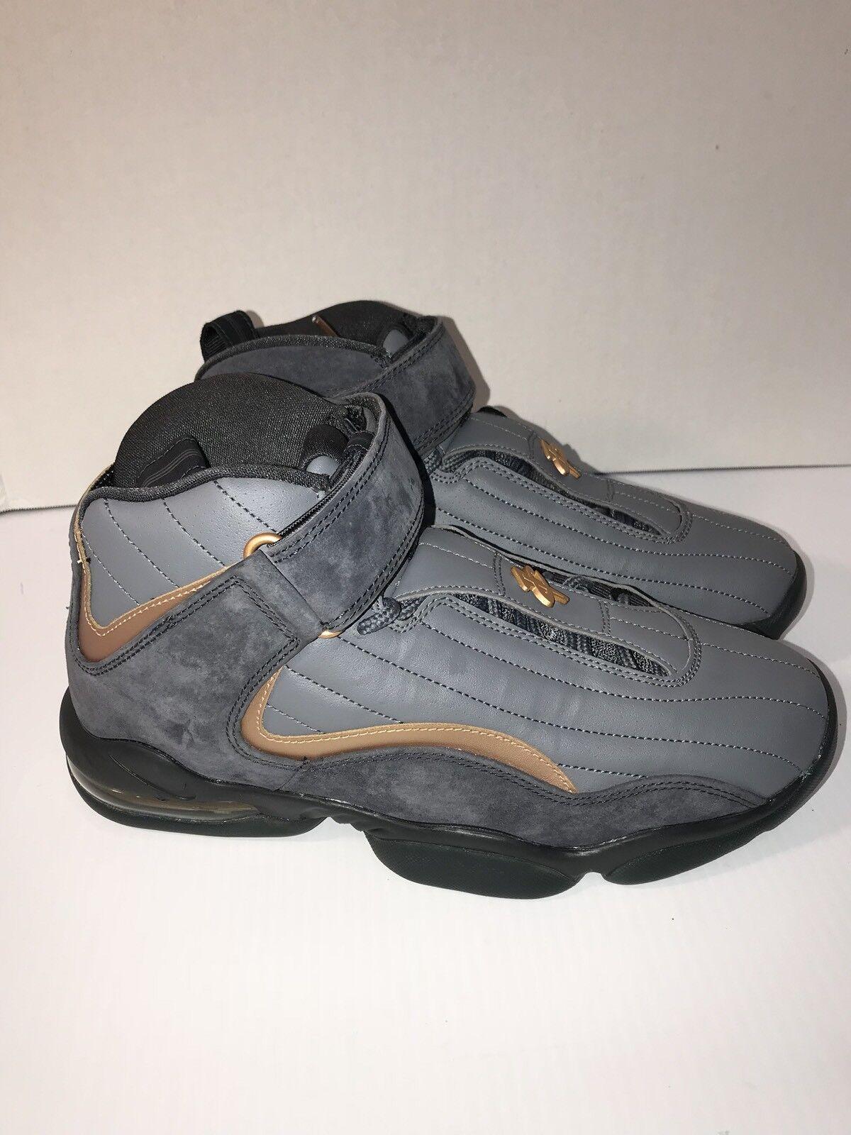 [864018-002] nike air penny iv lupo grigio mtllc coppercoin uomini scarpe sz - 8