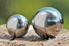 Gartenkugel Set poliert 9 und 13 cm aus Edelstahl Silber Kugel Dekokugel Neu