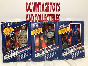 Vintage-1991-G-I-Joe-Snake-Eyes-Cobra-Commander-Duke-12-034-Hall-Of-Fame-HASBRO