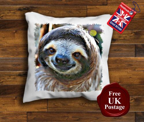 Housse pour coussin fait main, Sloth Housse de coussin Paresseux
