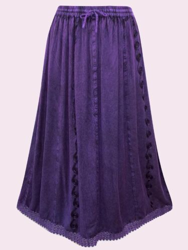 EAONPLUS NEW PURPLE Cathedral Lace Embroidered Skirt Plus Size 18//20 LAST ONE