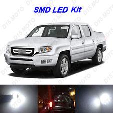 17x White LED Interior Bulbs + License Plate Light for 2006-2013 Honda Ridgeline