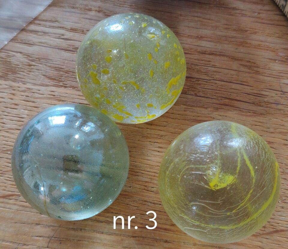 Glaskugler, Glas, 93 stk blandt glasku