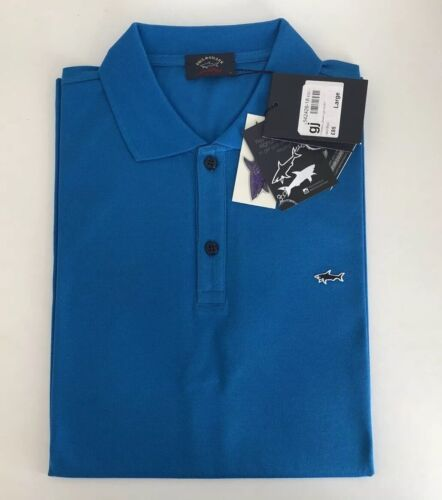 Paul And Shark Men's Polo Shirt Size Large 100/% Authentic 100/% Cotton