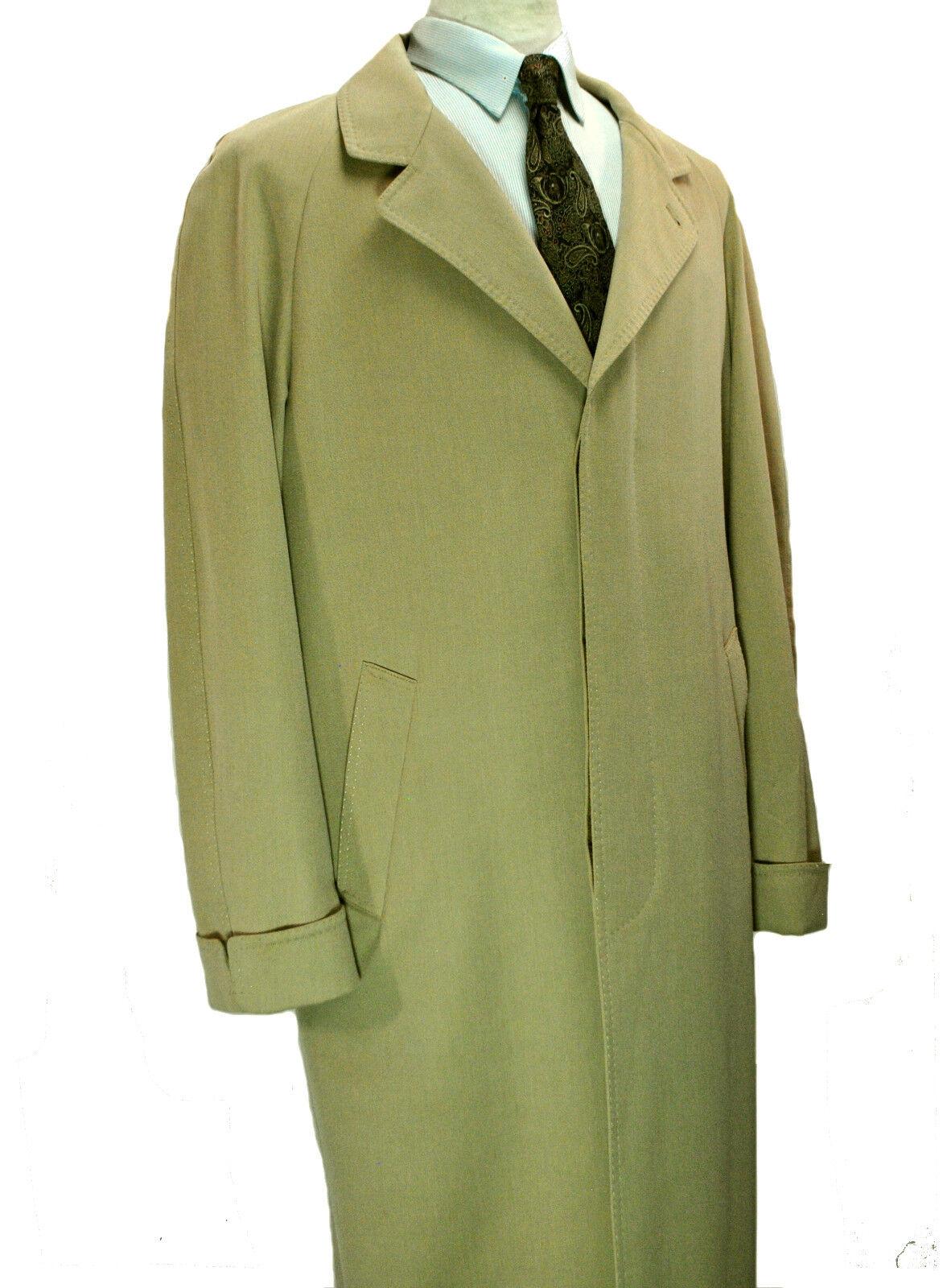 LGold Piana Storm System x Nordstrom Rain Coat 40 Short Med Overcoat Khaki Tan