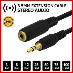 10ft-3-5mm-1-8-034-Stereo-Audio-Aux-Headphone-Cable-Extension-Cord-Male-to-Female