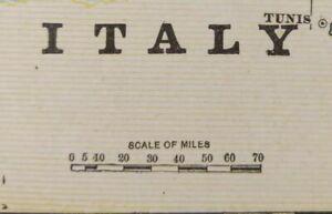 Vintage-1900-ITALY-Map-11-034-x14-034-Old-Antique-Original-CORSICA-SARDINIA-SICILY