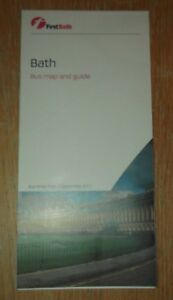 First-West-of-England-Bath-Bus-Map-and-Guide-Sep-2017-mint-condition-LATEST-EDTN