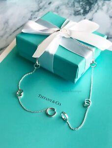 AUTHENTIC-Tiffany-amp-Co-RARE-Sterling-Multi-Interlocking-Circles-Necklace-16-034-F13