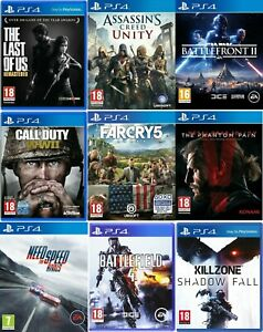 Ps4-Playstation-4-Videospiel-kaufen-1-oder-Bundle-up-Call-of-Duty-WWII-Far-Cry-5