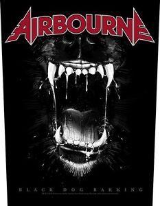 AIRBOURNE-Rueckenaufnaeher-Backpatch-Black-Dog-Barking