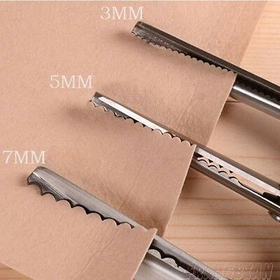 3 5 7mm Professional Dressmaking Scalloped Edge Pinking Shears Scissors Clipper