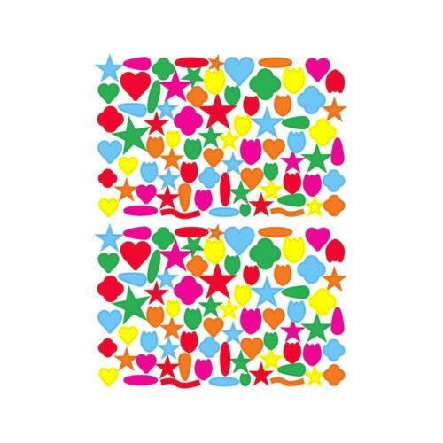 1 planche gommettes repositionnables Forme Diverses Loisirs Créatifs Enfants