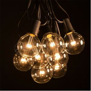 Image Is Loading G50 LED Clear Outdoor Patio Globe String Lights