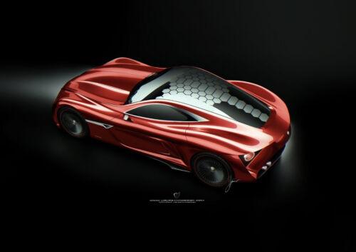 "AMAZING ALFA ROMEO CONCEPT NEW A4 POSTER GLOSS PRINT LAMINATED 11.7/""x8.3/"""