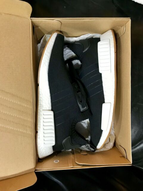 a9ebb1cde4366 NEW Adidas NMD R1 PK Primeknit Black Gum Pack Size 9 BY1887