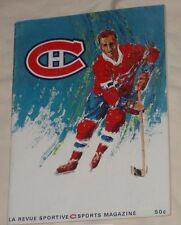 1967 / 1968 Stanley Cup Playoffs Montreal Canadiens Blackhawks Program Magazine