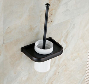 tradition wall mounted toilet brush holder set oil rubbed bronze ebay. Black Bedroom Furniture Sets. Home Design Ideas