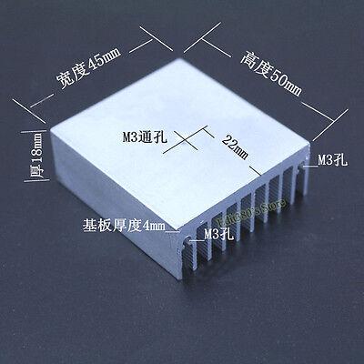 Aluminum Heat Sink Heatsink Radiator With M3 Hole For TO3P/220/247 50*45*18mm