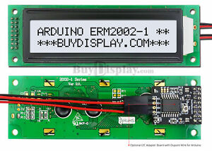 Details about White IIC/I2C/TWI Character 20x2 LCD Display Module for  Arduino w/Wire,Library