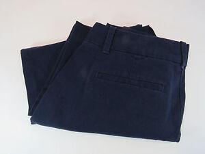 J-Crew-Womens-Navy-Blue-Cropped-Capri-Pants-City-Fit-Size-4