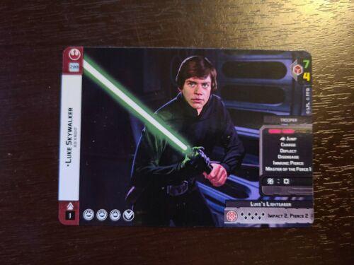 Star Wars Legion Full //Alternate Art Card Luke Skywalker Operative Card