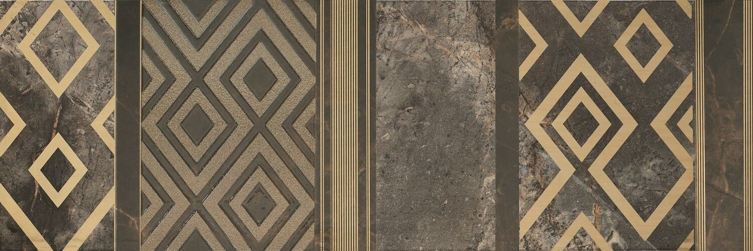 Impression Gold Stripe antrazite 25x75 Feinsteinzeug Natursteinoptik Wandfiese