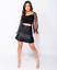 Womens-Ladies-Faux-Leather-Pleated-Belted-Mini-Skirt-8-14 thumbnail 2