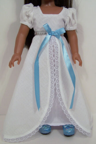 "WHITE Victorian Dress Doll Clothes For 14/"" Am Girl Wellie Wisher Wishers Debs"
