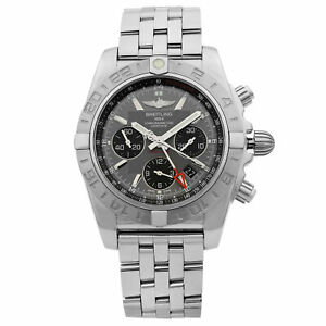 Breitling Chronomat GMT Steel Grey Dial Automatic Mens Watch AB042011/F561-375A