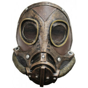 Steampunk-Gas-Mask-Bronze-M3A1-Full-Head-Latex-Mask-Halloween-Fancy-Dress-Adult