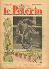 Guidon Vélo Bicyclette Cyclistes handlebar Bicycle Bike France 1938 ILLUSTRATION
