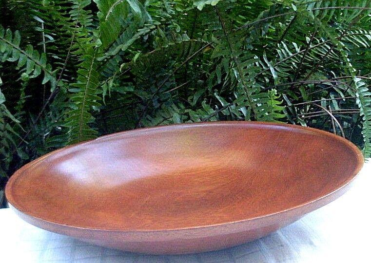 SIGNED Handcrafted BOB MORRISON 1997 Kuranda MAHOGANY Wooden Bowl VG Display -Au