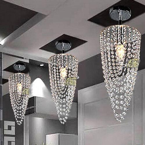 1Pcs Crystal chandelier lighting fixture ceiling Lamp Dining Room Pendant light