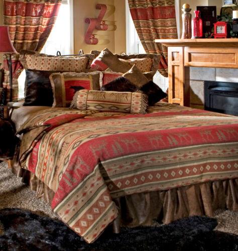 Adirondack Bedding Set 5 Piece Comforter Set with Drapes Option - FREE SHIPPING
