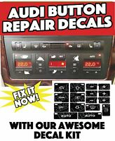 Audi A4 S4 B6 Climate Control Button Restoration Stickers