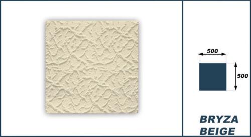 40 qm Platten Deckenplatten Dekorpaneel Styroporfliesen XPS 50x50cm Bryza beige