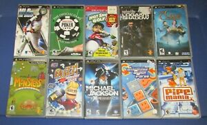Lot of 10 Sony PSP Games Fast Shipping!