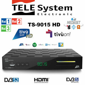 TELE System TS9015 HD Decoder Tivusat HD SmartCard PRE-ACTIVATED