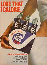 1974 vintage AD DIET RITE COLA Sugar free 6 pack on the hip !  062716