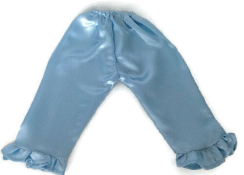 Light Blue Satin Pajamas /& Slippers fits 18 inch American Girl Doll Clothes
